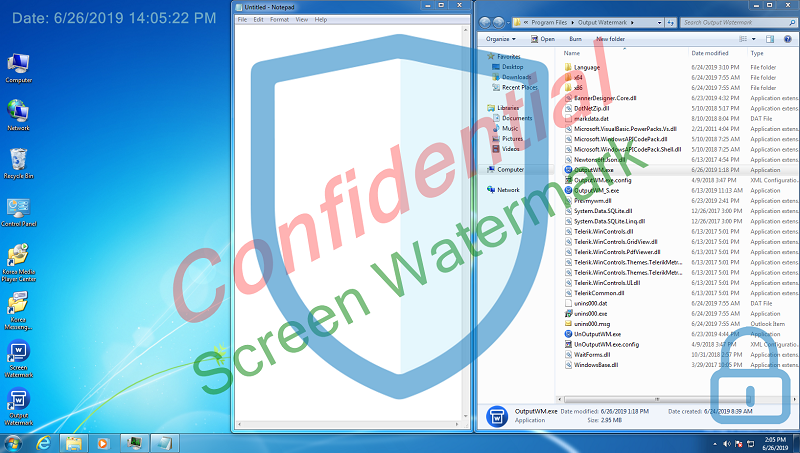 Screen Watermark full screenshot